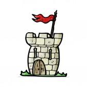 Cartoon tiny castle — Stock Vector
