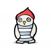 мультфильм маленькая сова — Cтоковый вектор
