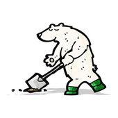 Kreskówka niedźwiedź polarny — Wektor stockowy
