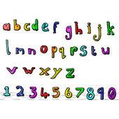 Cartoon-alphabet — Stockvektor