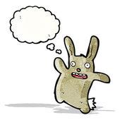 Komik karikatür tavşan — Stok Vektör