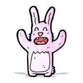 Coelho de desenho animado-de-rosa — Vetor de Stock