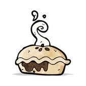 Cartoon meat pie — Stock Vector