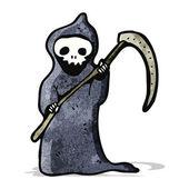 Mort de dessin animé avec faux — Vecteur
