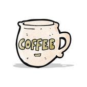 Karikatür kahve kupa — Stok Vektör