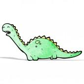 Friendly dinosaur cartoon — Stock Vector