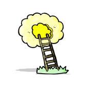 Cartoon ladder to heaven — Stock Vector