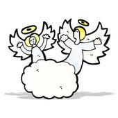 Cartoon angels in heaven — Stock Vector