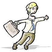 Cartoon man rushing around — Stock Vector