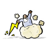 Bůh na mrak kreslený — Stock vektor