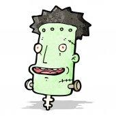 Cartoon frankenstein monster,head — Stock Vector