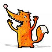 Funny cartoon fox — ストックベクタ