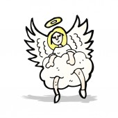 Cartoon angel old cloud — 图库矢量图片