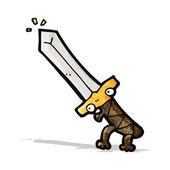 Cartoon sword — Stock Vector