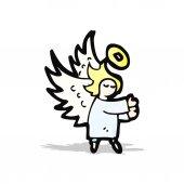 Cartoon little angel — Vector de stock