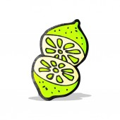 Cartoon cut lime — Vetorial Stock