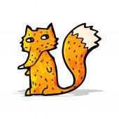 Cartoon fox — Stockvektor