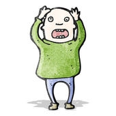 Cartoon bald man stressing out — Stock Vector