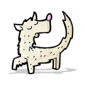 Scruffy little dog cartoon — Stock Vector