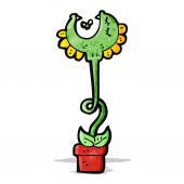 Cartoon carnivorous plant — Stock Vector