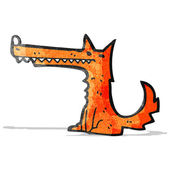 Cartoon fox — Vetor de Stock