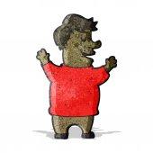Cartoon happy fat man — Stock Vector