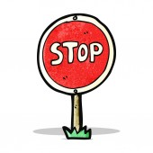 Cartoon stop symbol — Stock Vector