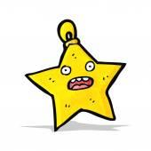 Noel yıldızı biblo karikatür — Stok Vektör
