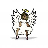 Kreskówka anioł — Wektor stockowy