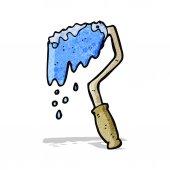 Karikatür boya silindiri — Stok Vektör