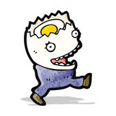 Egg cartoon character — Stock Vector