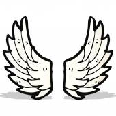 Cartoon angel wings — Stock Vector
