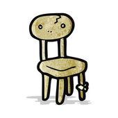 Cartoon wooden chair — Stock Vector