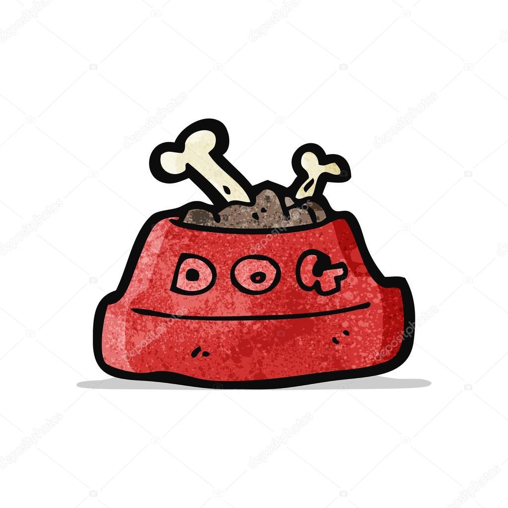 Cartone animato di alimento cane — vettoriali stock