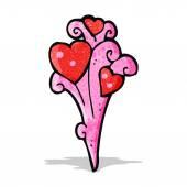 Cartoon hjärta dekoration — Stockvektor