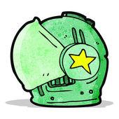 Cartoon spaceman helmet — 图库矢量图片