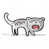 Gato engraçado dos desenhos animados — Vetor de Stock