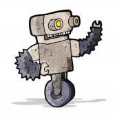 Cartoon old robot — Stock Vector