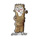 Cartoon grappige aap — Stockvector