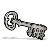Cartoon metal key — 图库矢量图片