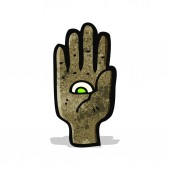 Mystic hand symbol cartoon — Stock Vector