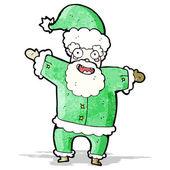 Cartoon green santa claus — 图库矢量图片