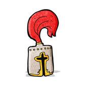Caroon knight helmet — ストックベクタ