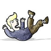 Cartoon falling man — Stock Vector