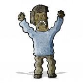 Cartoon terrified man — Stock Vector