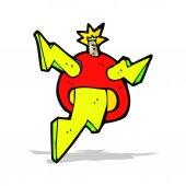 Cartoon electric bomb — Stock Vector