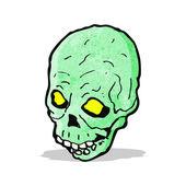 Cartoon green skull — 图库矢量图片