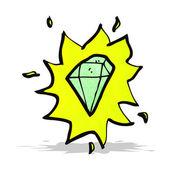 Cartoon glowing gem — Stock Vector