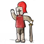 Cartoon medieval knight — Stock Vector