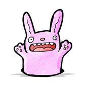 漫画のウサギの穴に — ストックベクタ